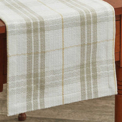farmhouse COCOA BUTTER TABLE RUNNER - 36