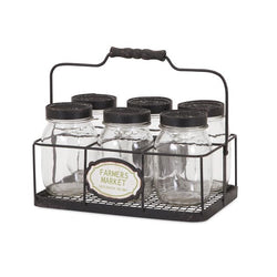Canning Jars in Wire Caddy