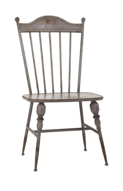 Chatham Vintage Gray Metal Side Chair