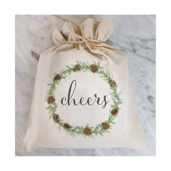 Cheers Linen Blend Gift Bag