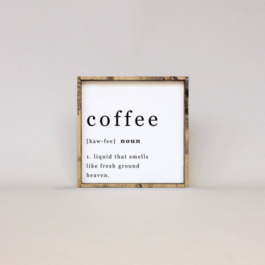 Coffee Noun | Wood Sign
