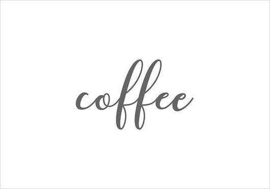 Coffee Steel Script Sign