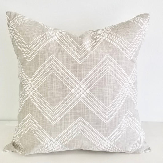 Colton Print Pillow Cover - French Grey