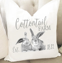 Cotton Tail Farm Bunny Throw Pillow