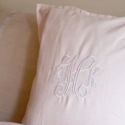 Cursive Monogram Pillow Cover - 5 Colors