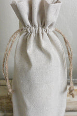 Custom Initial Linen Winebag