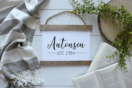 Custom Last Name and Year Canvas Poster