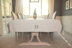Custom Monogrammed Tablecloth
