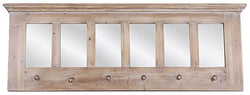 Davenport Wood Wall Shelf with Hooks