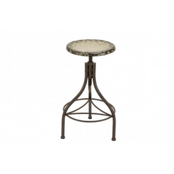 Distresed Metal Bar Stool