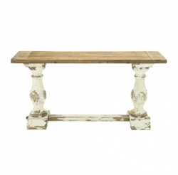 Distressed Wood Farmhouse Console Table
