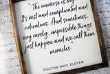 Doctor Who Quote Wood Sign