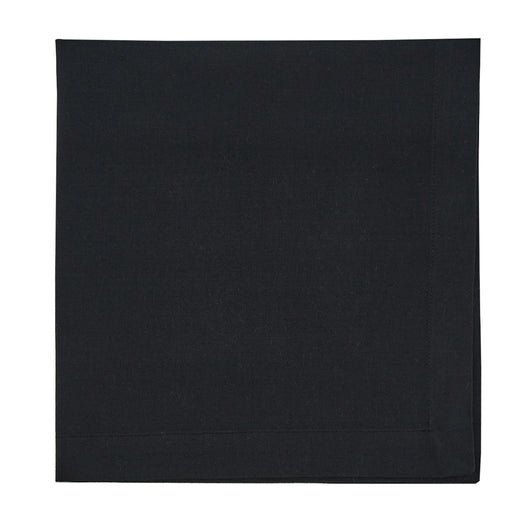 washable cloth black table napkin