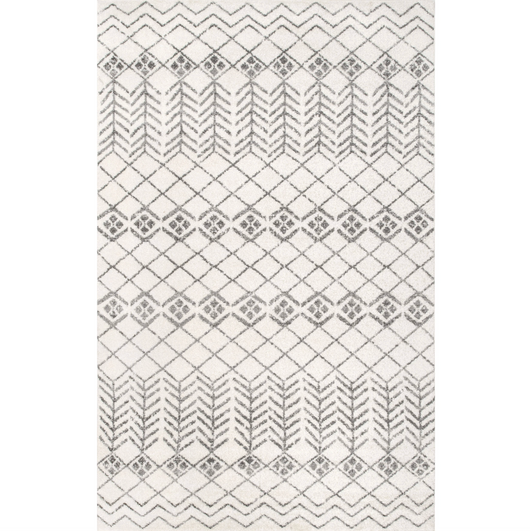 Evelyn Geometric Stripe Boho Rug