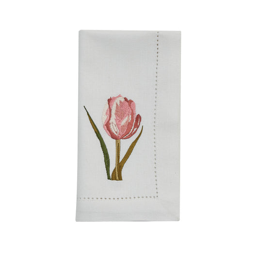 rustic FARMHOUSE SPRING EMBROIDERED NAPKIN