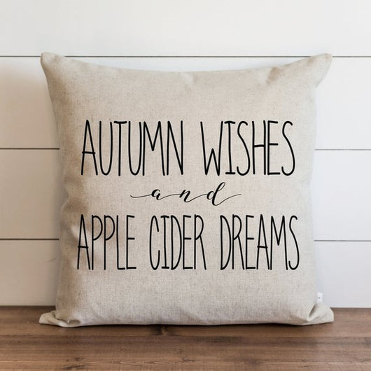 Fall Pillow Cover // Autumn Wishes & Apple Cider Dreams