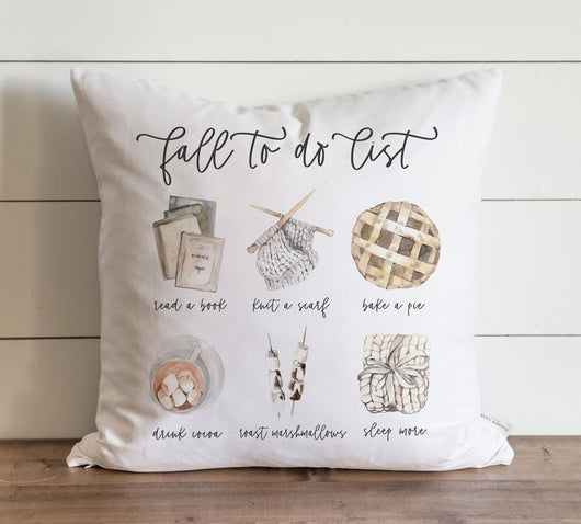 Fall Pillow Cover Fall To Do List