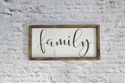 Family Modern Rustic Farmhouse Sign