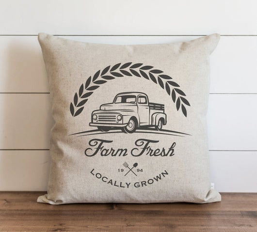 Farm Fresh Locally Grown Pillow Cover