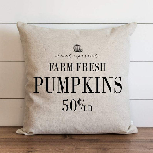 Farm Fresh Pumpkins modern rustic home pillow cover