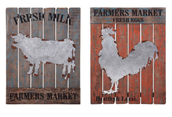 Farm Fresh Wall Decor - Ast 2