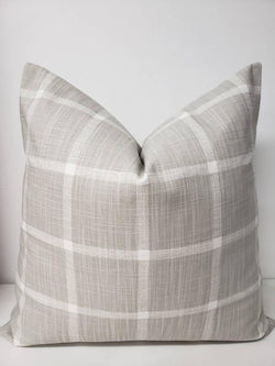 Farmhouse French Grey Abbot Check Pillow Cover