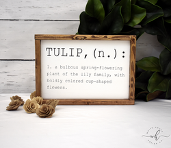 Flower Dictionary Definition - Tulip
