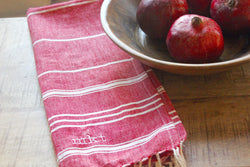 Fouta Custom Monogrammed Turkish-Inspired Kitchen Towel - 4 Colors and Patterns