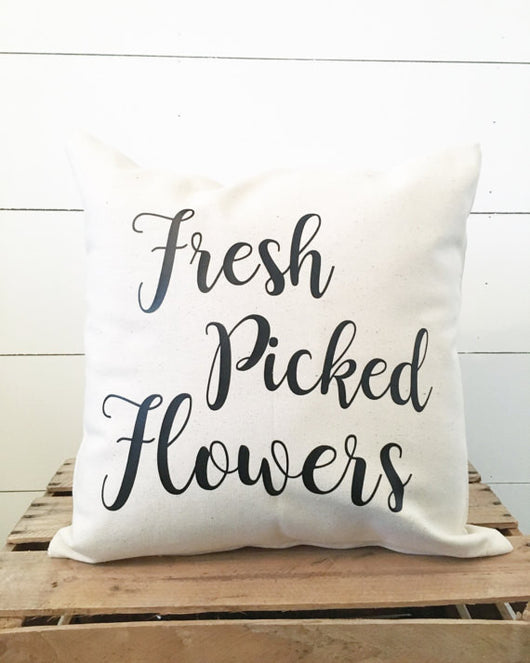 Fresh Picked Flowers Pillow Cover