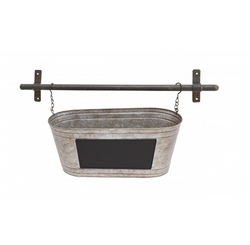 Galvanized Chalkboard Wall Planter
