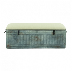 Galvanized Farm Stock Tank Storage Bench