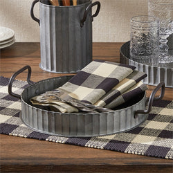 Galvanized Tray Set