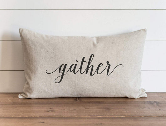 Gather modern rustic Pillow Cover
