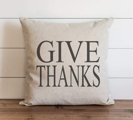 modern rustic home Fall Give Thanks Pillow Cover