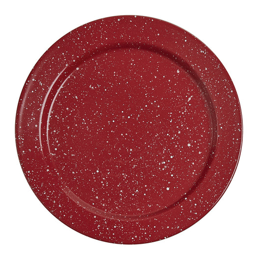 Red Granite Enamelware Salad Plate