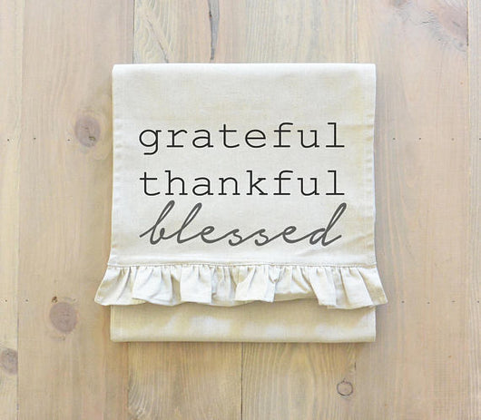 Grateful Thankful Blessed Table Runner