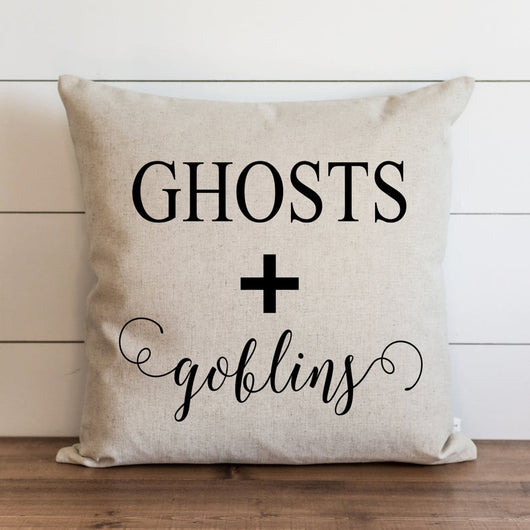 Ghosts + Goblins Halloween Pillow Cover