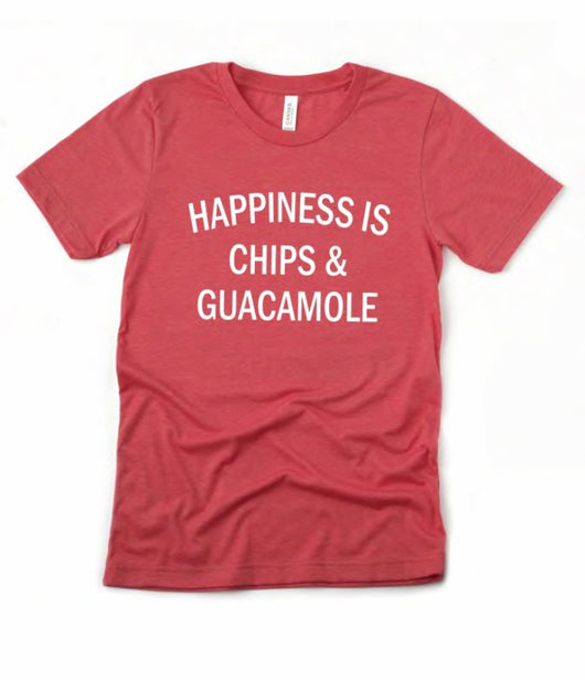 Happiness is Chips and Guacamole T-Shirt