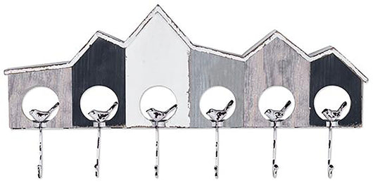 Harbour Birdhouse Wall Décor With Hooks
