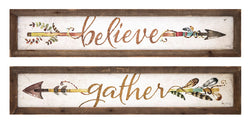 Harvest Believe and Gather Wall Plaques - Ast 2