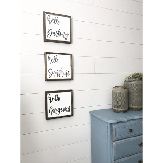 Hello Darling - Set of 3 Signs