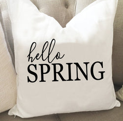 Hello Spring Throw Pillow Cover