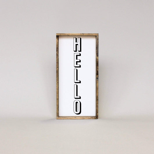 Hello | Wood Sign