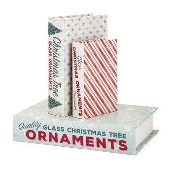 Homestead Christmas Vintage Book Boxes - Set of 3