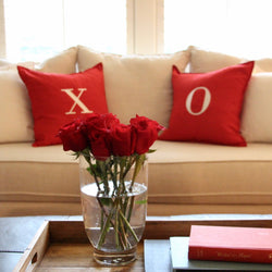 Hugs and Kisses Embroidered Pillow covers set of 2