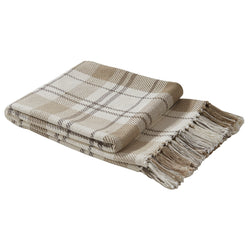 rustic cabin IN THE MEADOW PLAID THROW