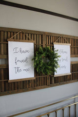 """I have found the one whom my soul loves "" Set of 2 Farmhouse hanging Canvas Posters"