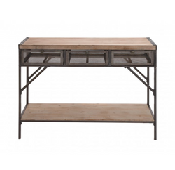 Industrial 3-Drawer Console Table