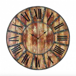 Industrial Wood Pallet Clock