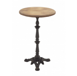 Iron Base Accent Table
